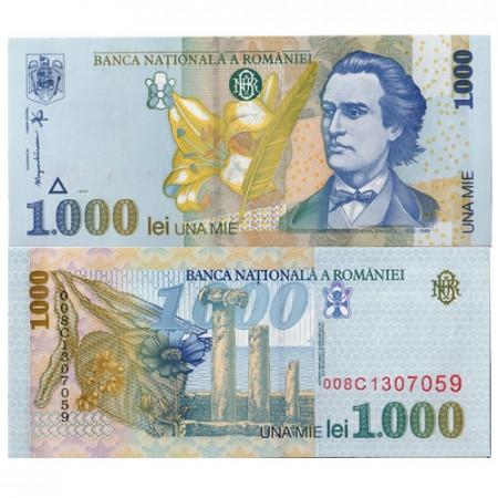 """1998 * Billete Rumania 1000 Lei """"M Eminescu"""" (p106) SC"""