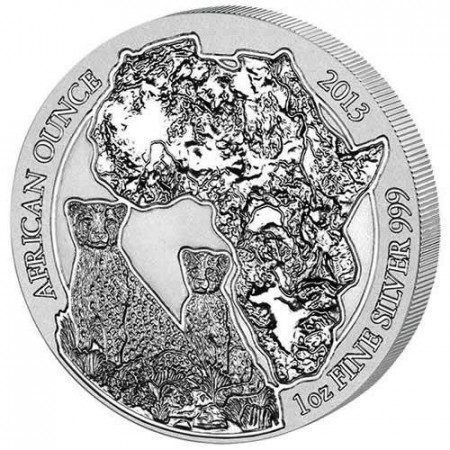 2013 * 50 rwf plata 1 OZ Ruanda Guepardo