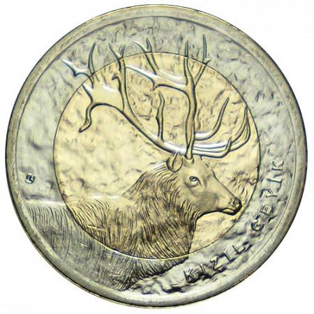 2012 * 1 lira Turquía Ciervo