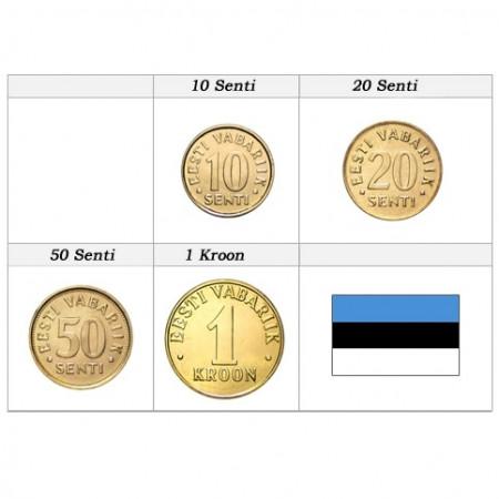 Años Mixto * Serie 4 monedas Estonia