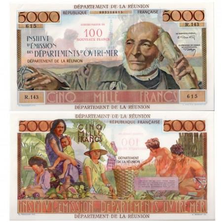 1971 * Billete Reunión 100 NF en 5000 francos EBC