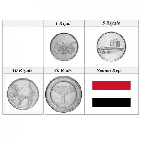 Años Mixto * Serie 4 monedas Yemen