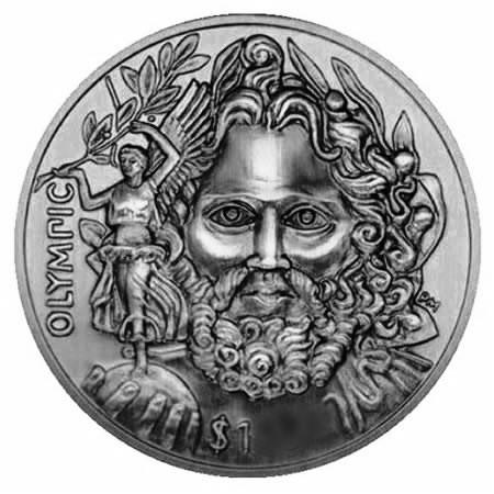 2013 * 1 dolar Islas Vírgenes Británicas Pierre de Coubertin