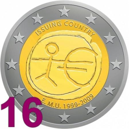2009 * 16 monedas 2 euro UEM EMU