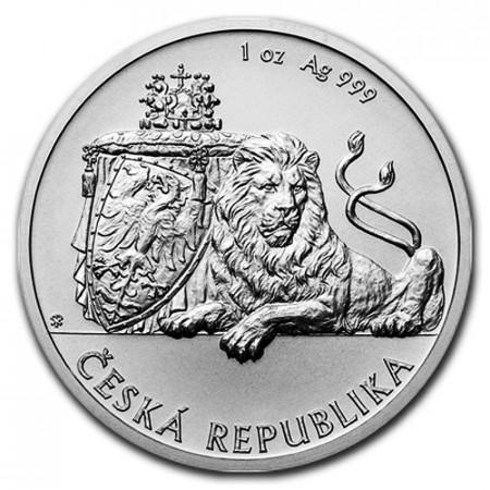 "2017 * 1 Dollar Plata 1 OZ Niue - Nueva Zelanda ""Czech Lion"" FDC"