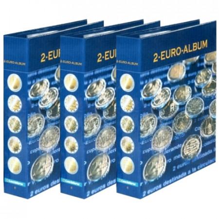 ÁLBUM NUMIS PARA 2 EUROS CONM TOMO 1, 2, 3 * LEUCHTTURM