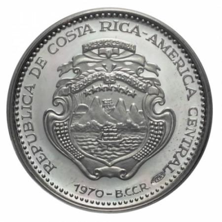 1970 * 5 colones Costa Rica 400 años Cartago Nova