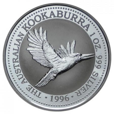 "1996 * 1 Dólar Plata 1 OZ Australia ""Kookaburra"" FDC"
