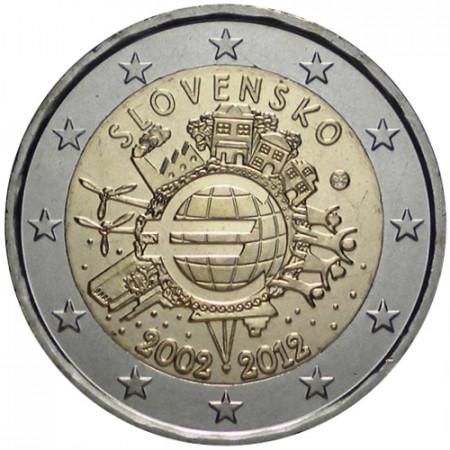 2012 * 2 euro ESLOVAQUIA 10° Aniversario euro