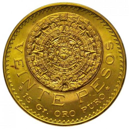 1959 * 20 pesos Mexico oro Calendario Mexica
