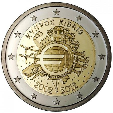 2012 * 2 euro CHIPRE 10° Aniversario euro