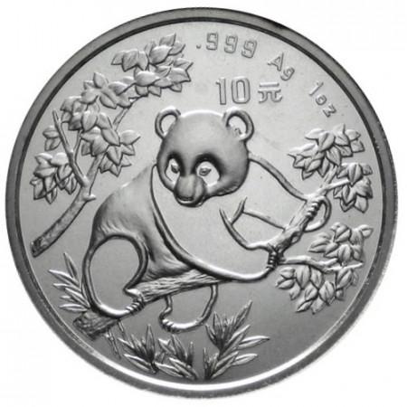 1992 * 10 Yuan de plata 1 OZ China Panda