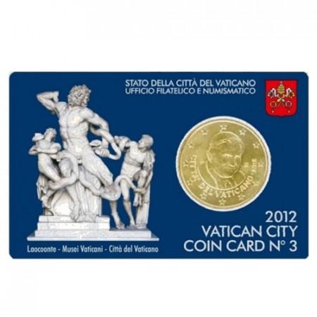 2012 * Coincard VATICANO 50 centésimos fdc