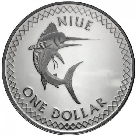 2010 * 1 Dólar Islas Niue Marlín