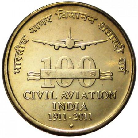 2011 * 5 rupias India Aviación Civil de India
