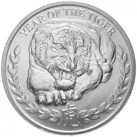 2010 * 1000 Chelínes 1 OZ Somalilandia Año de la Tigre