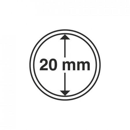 Paq. de 10 cápsula Ø 20 mm de monedas * LEUCHTTURM