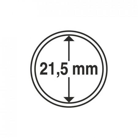 Paq. de 10 cápsula Ø 21,5 mm de monedas * LEUCHTTURM