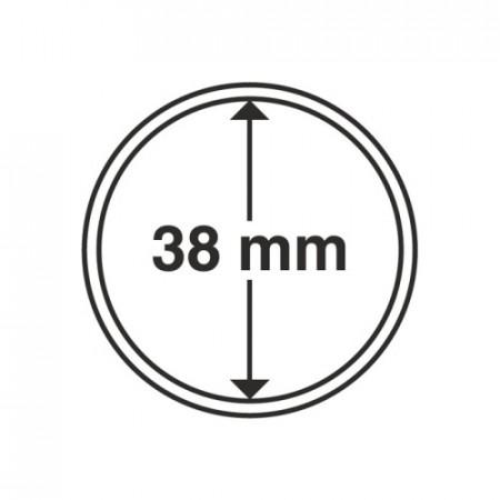 Paq. de 10 cápsula Ø 38 mm de monedas * LEUCHTTURM