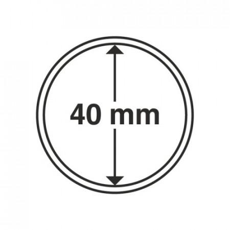 Paq. de 10 cápsula Ø 40 mm de monedas * LEUCHTTURM