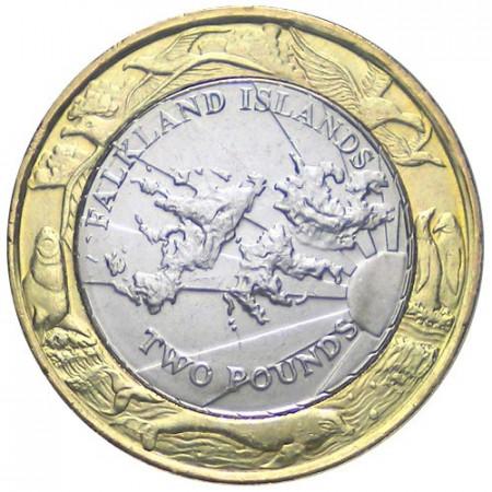 2004 * 2 libra esterlina Islas Malvinas 30° Aniversario Emisión