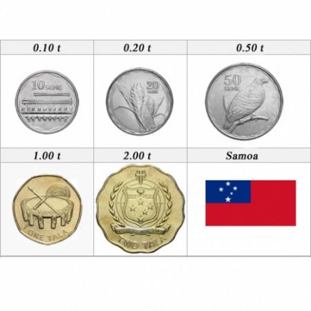 2011 * set 5 monedas Samoa