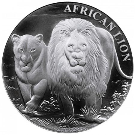 """2016 * 5000 Francs Plata 1 OZ Congo República """"African Lion"""" FDC"""