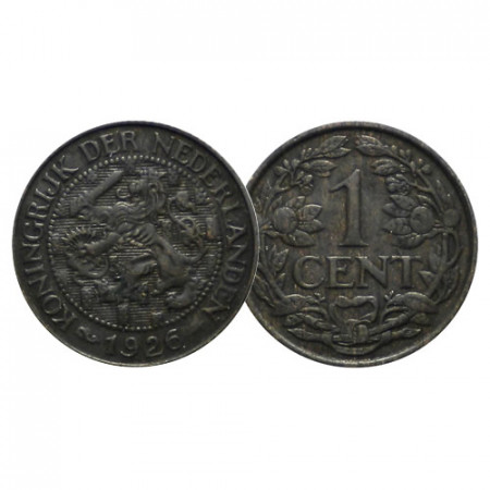 "1926 * 1 Cent Holanda - Países Bajos ""Guillermina I"" (KM 152) EBC"