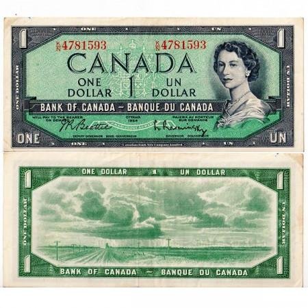 "1954 * Billete Canadá 1 Dólar ""Isabel II"" (p75b) MBC+"