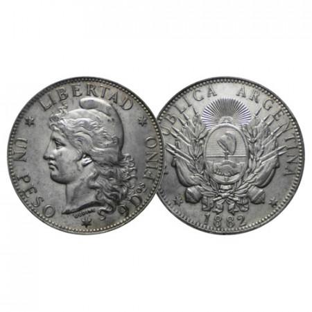 "1882 * 1 Peso (Patacon) Plata Argentina ""Liberty"" (KM 29) EBC+"