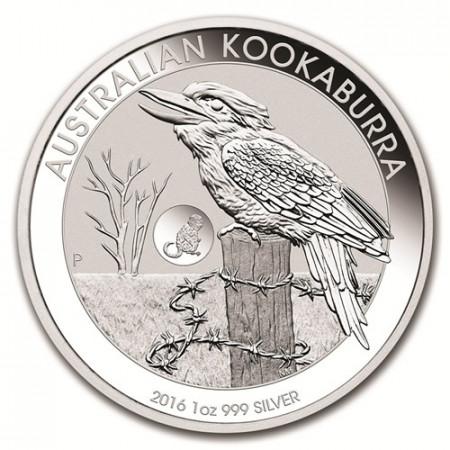 "2016 * 1 Dólar Plata 1 OZ Australia ""Kookaburra - Mono"" Privy Mark"