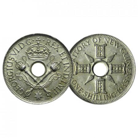 "1945 * 1 Shilling Plata Nueva Guinea ""Jorge VI"" (KM 8) cSC"