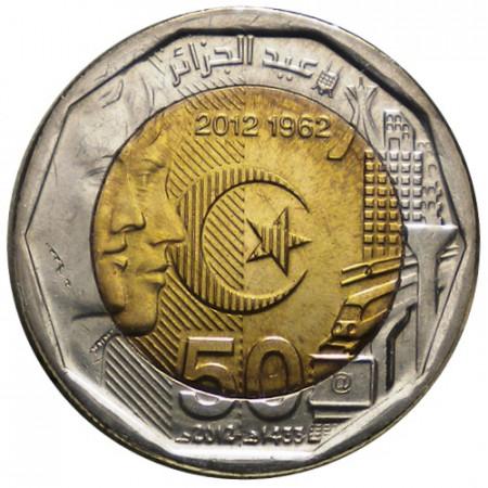 "2012 * 200 Dinars Argelia ""50 Independencia de Argelia"" UNC"