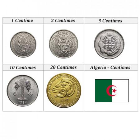 "Años Mixto * Serie 5 Monedas Argelia ""Centimes"" UNC"