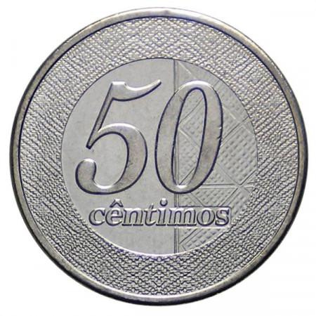 2012 * 50 Céntimos Angola Nuevo Diseño