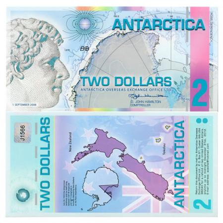 2008 * Billete Polímero Antártica 2 ant.dollars EBC