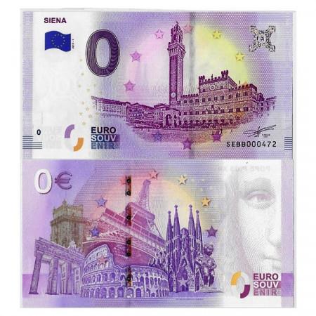 """2019-1 * Billete Souvenir Italia Unión Europea 0 Euro """"Siena - Piazza del Campo"""" SC"""