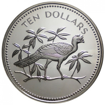 "1975 * 10 Dollars Belice ""Great Currasow"" (KM 45) PROOF"