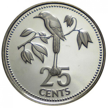 "1975 * 25 Cents Belice ""Frigate Bird"" (KM 49) PROOF"