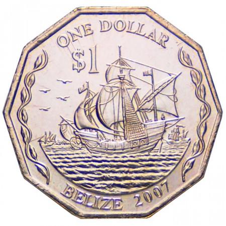 2007 * 1 Dólar Belice Tres Carabelas