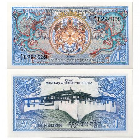 ND (1986) * Billet Bután 1 Ngultrum (p12) SC