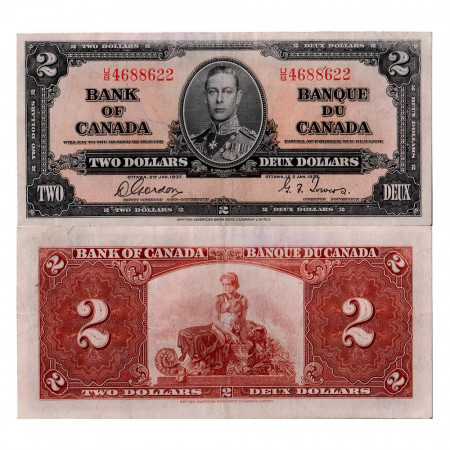 1937 * Billete Canadá 2 dólars MBC