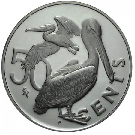 1973 * 50 cent Islas Vírgenes Británicas Pelícano pardo