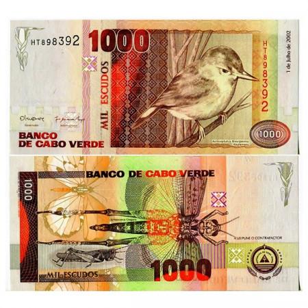 2002 * Billete Cabo Verde 1000 Escudos (p65a) SC