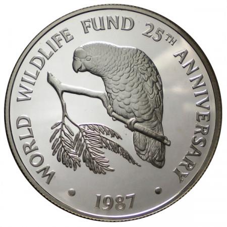 "1987 * 5 Dollars Plata Islas Caimán ""25° Fundación WWF"" (KM 95) PROOF"