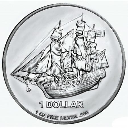 2014 * Dólar de plata 1 OZ Islas Cook Bounty