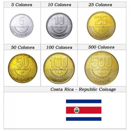 Años Mixto * Serie 6 monedas Costa Rica