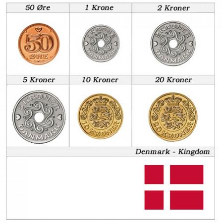 Años Mixto * Serie 6 Monedas Dinamarca