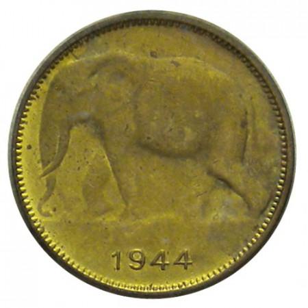 "1944 * 1 Franc Congo Belga ""Leopoldo III – Elefante"" (KM 26) EBC"