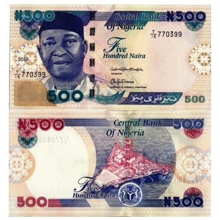"2016 * Billete Nigeria 500 Naira ""Dr. Nnamdi Azikiwe"" (p30o) SC"